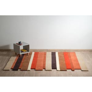 μοντέρνο χαλί,μηχανής,ριγέ,πορτοκαλί