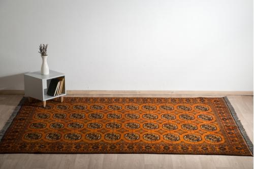 χαλί,κλασικό,χειροποίητο,golden afghan,πορτοκαλί